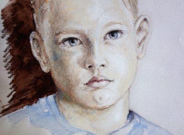 Sebastian, akvarel, 2002